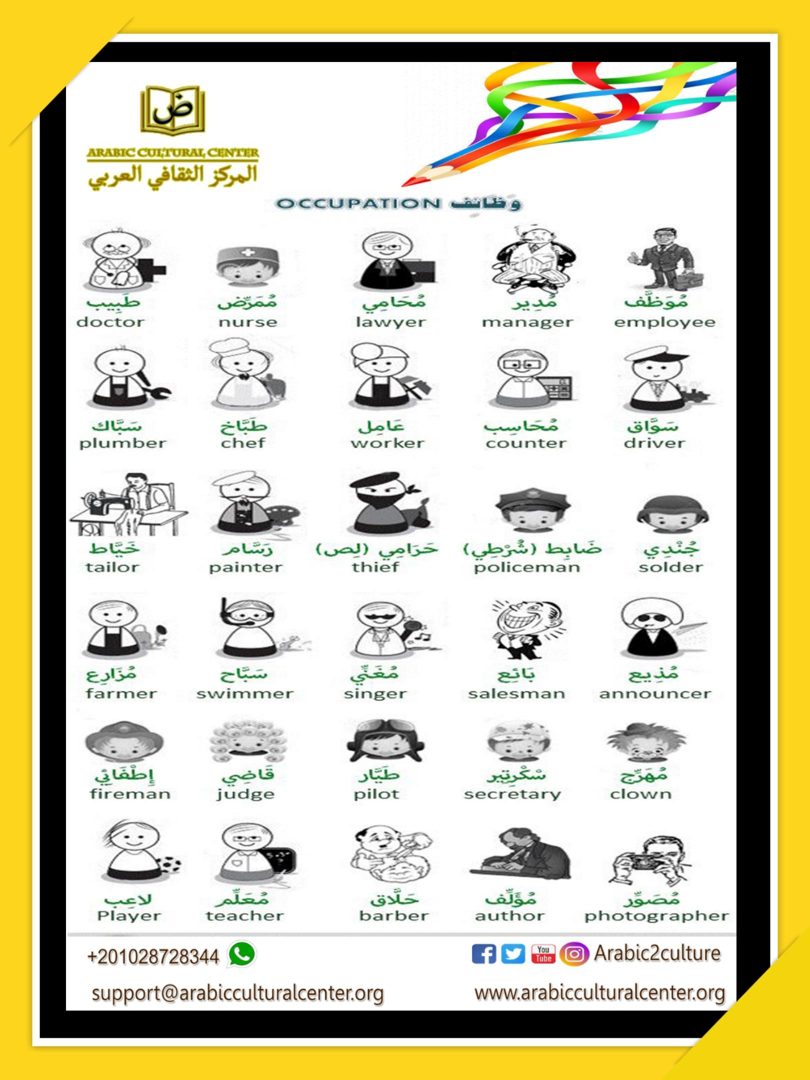 Jobs in Arabic